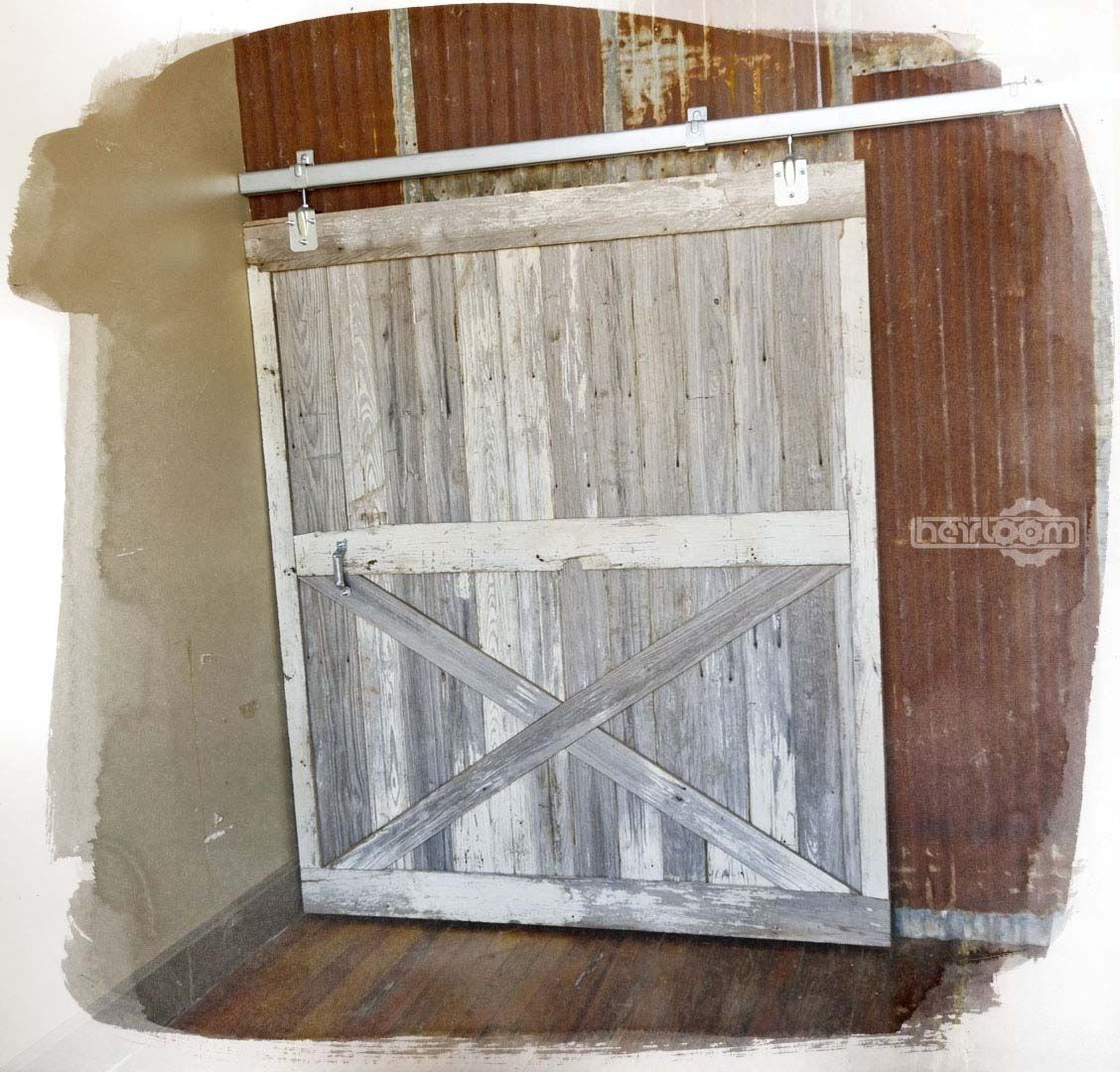 1080 #6B4633  Doors Interior Doors Reclaimed Barn Wood Sliding Barn Door save image Sliding Wood Barn Doors 11271128
