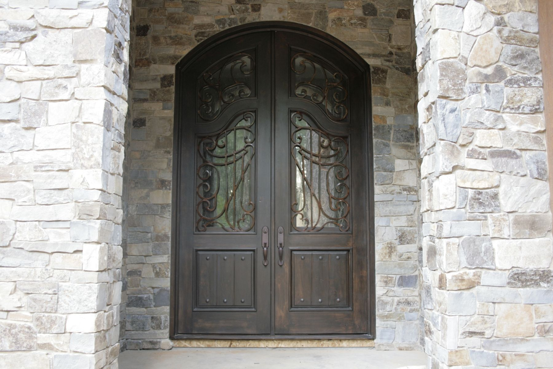 Handmade custom double entry door by demejico inc for Double door house entrance