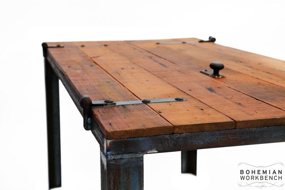 Custom Made Old Barn Door Desk / Table - Reclaimed Materials - Hand Made Old Barn Door Desk / Table - Reclaimed Materials By