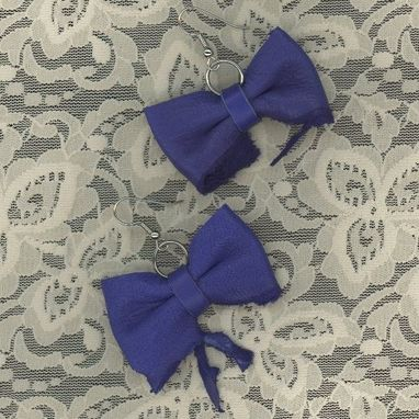Custom Made Leather Bow Tie Earrings