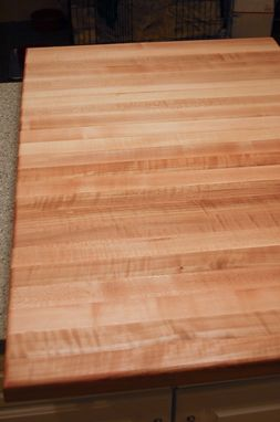 Custom Made Butcher Block Countertop