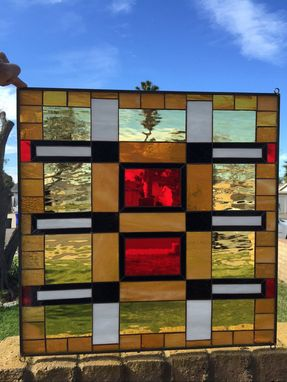 Custom Made Magnificent Mission Prairie Stained Glass Window