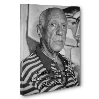 Custom Made Inspiration Pablo Picasso Motivation Quote Canvas Wall Art