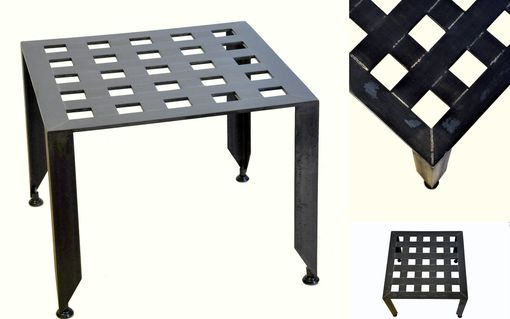 Custom Made Grid Work Side Table