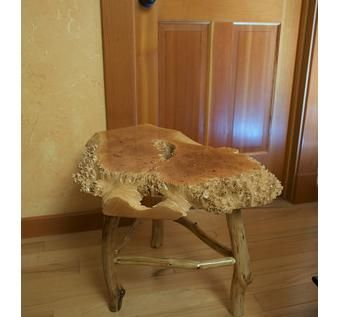 Custom Made Maple Burled End Table