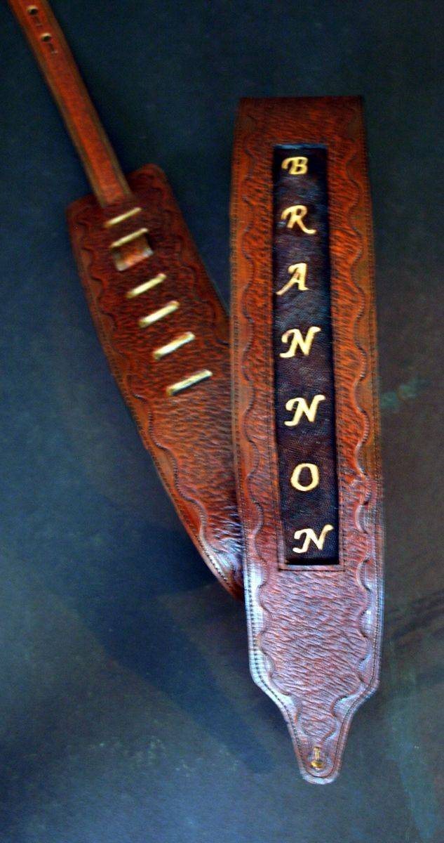 Custom Made Handcrafted Personalized Guitar Straps By Dave