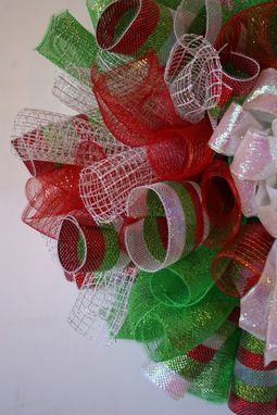 Custom Made Spiral Mesh Christmas Wreath