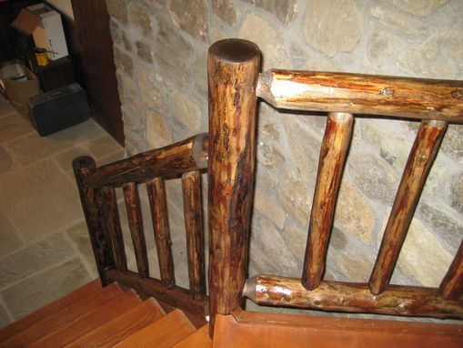 Custom Made Log Cabin Style Staircase