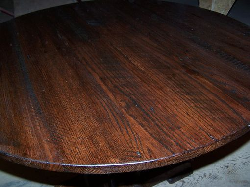 Custom Made Chateau Base Round Dining Table From Reclaimed Oak