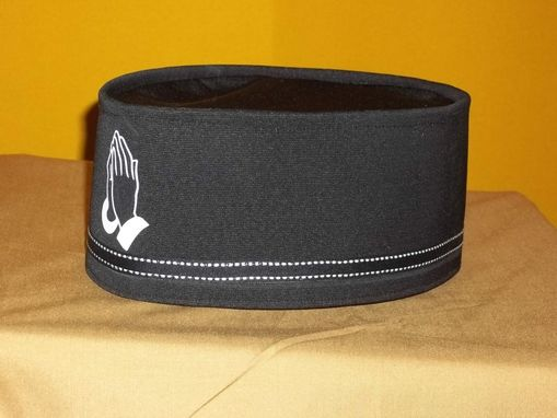 Custom Made Black And White Prayer Crown With Matching Band. Made In Any Color Combination In Any Size