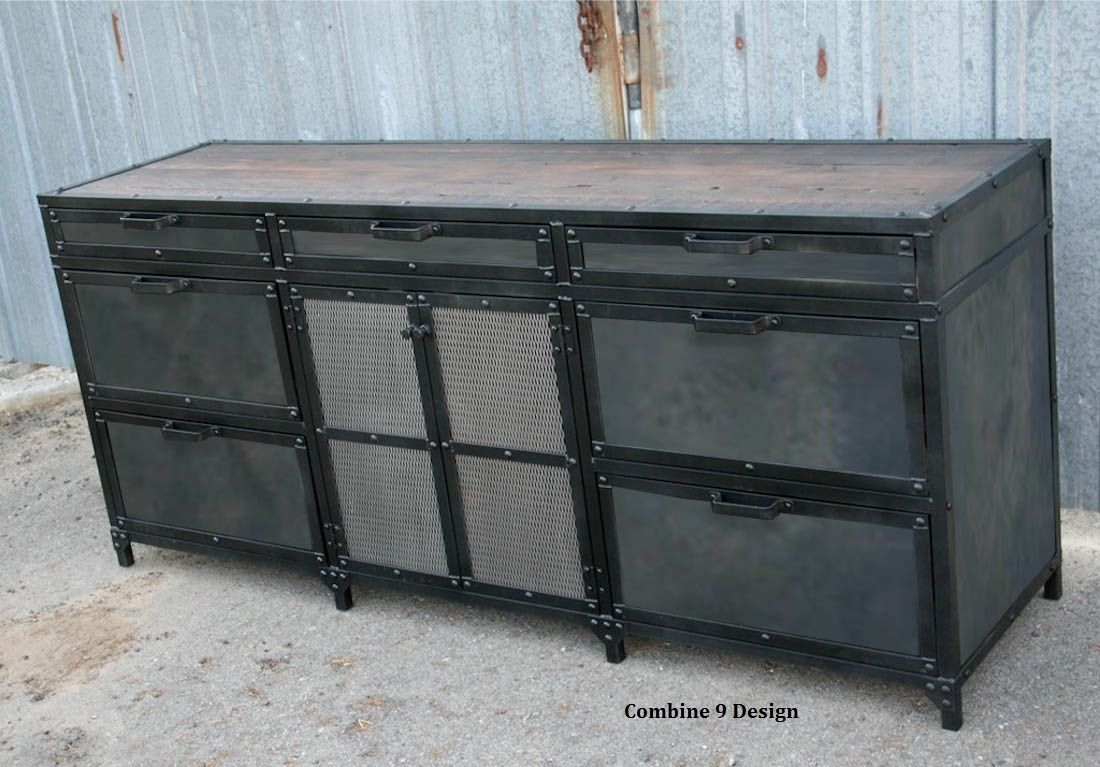Buy A Hand Made Vintage Industrial File Cabinet Mid
