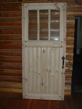Custom Made Bolder Shores Log & Branch Entry Door, Insulated Door,With Insulated Glassd