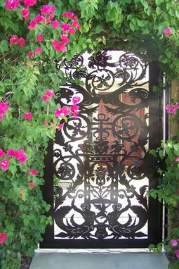 Custom Made Metal Art Gate Italian Entry Pedestrian Walk Designer Garden Iron