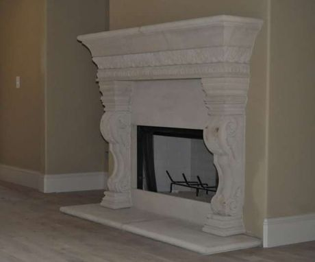 Handmade Cast Stone Fireplace Mantel Surround By Southern