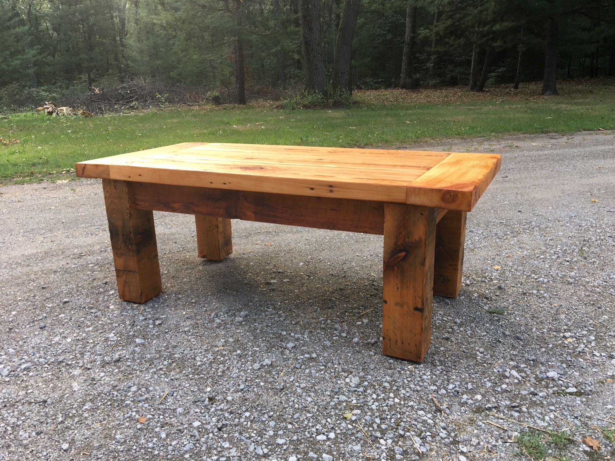 Buy a hand made rustic barnwood breadboard ends coffee table made to order from jkdesigns Coffee tables rustic