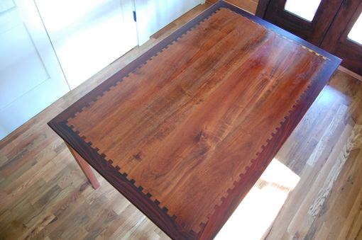 Custom Made Mesquite And Cocobolo Table