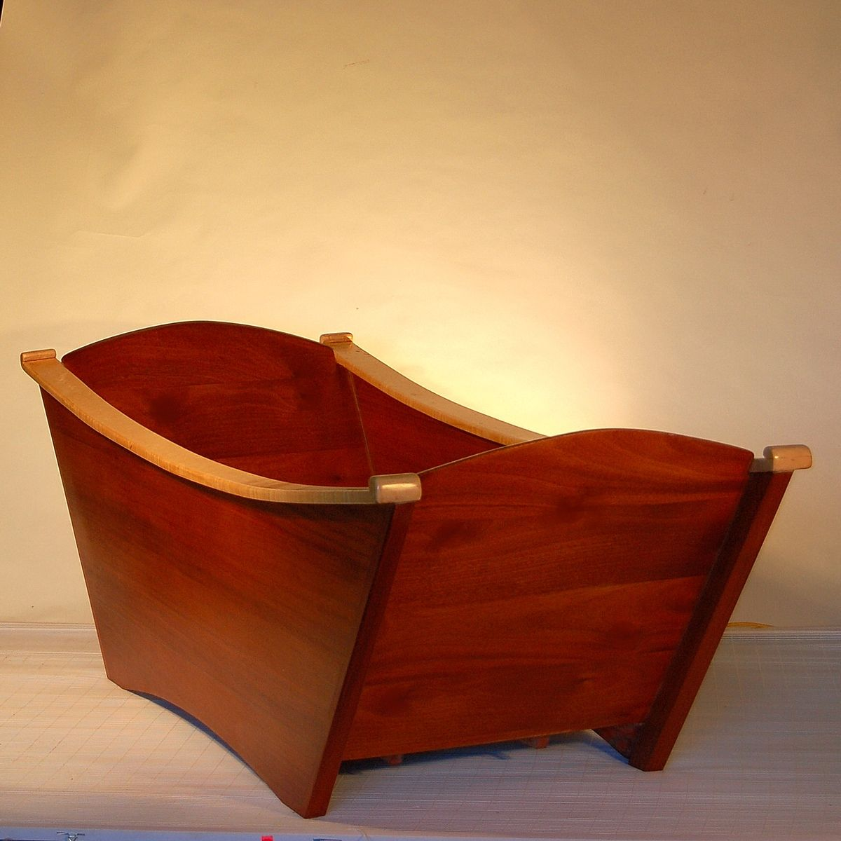 Custom Made Designed Double Wooden Bathtub
