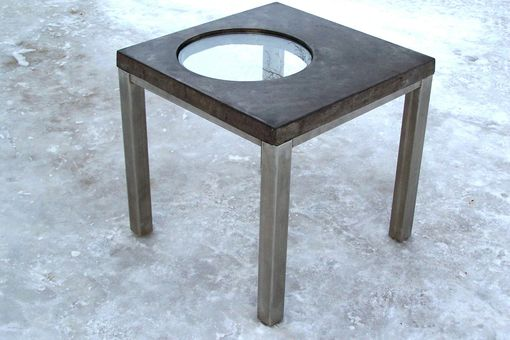 "Custom Made ""Reflections"" Concrete Table"