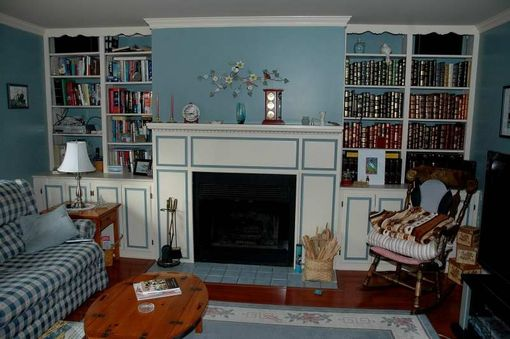 Custom Made Custom Book Cases And Fireplace Surround Remodel