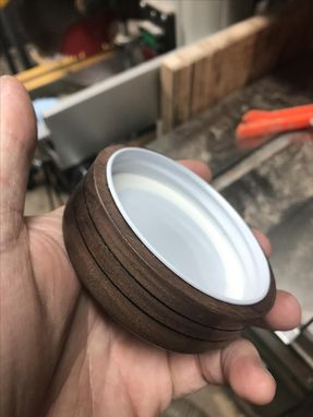 Custom Made Custom Hand Crafted Wood Mason Jar Lids