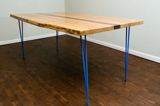 Custom Made Live Edge Hairpin Dining Table