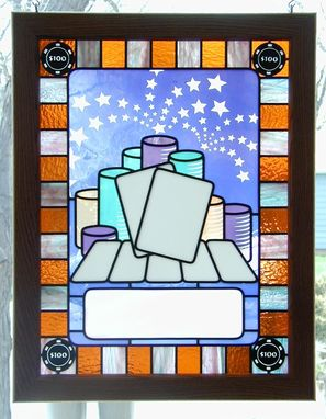 Custom Made Poker Trophy In Stained Glass
