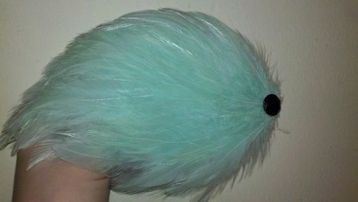 Custom Made Sale Mint Green Feather Hair Fascinator, Great For Weddings & Special Occasions, Ready To Ship