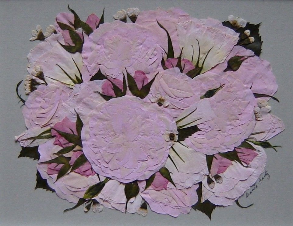 Hand made bridal bouquet preservation pressed flower art by custom made bridal bouquet preservation pressed flower art mightylinksfo