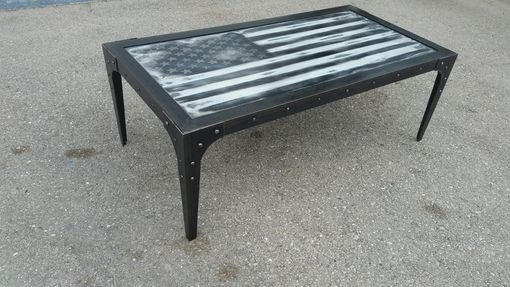 Custom Made The Patriot - Industrial Coffee Table #051 • By Industrial Evolution Furniture Co.