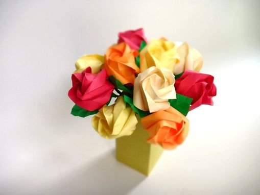 Custom Made Golden Sunset - Petite Origami Roses