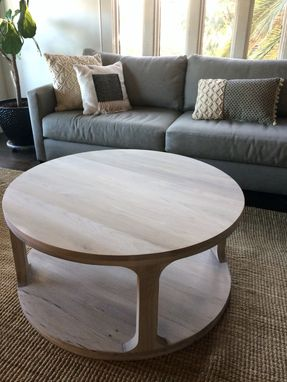 Custom Made Solid Pecan Wood Coffee Table