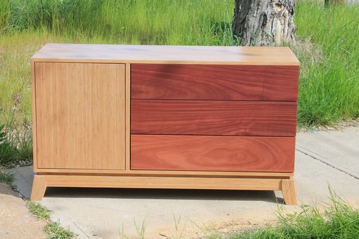 Custom Made Rosewood And Bamboo Dresser