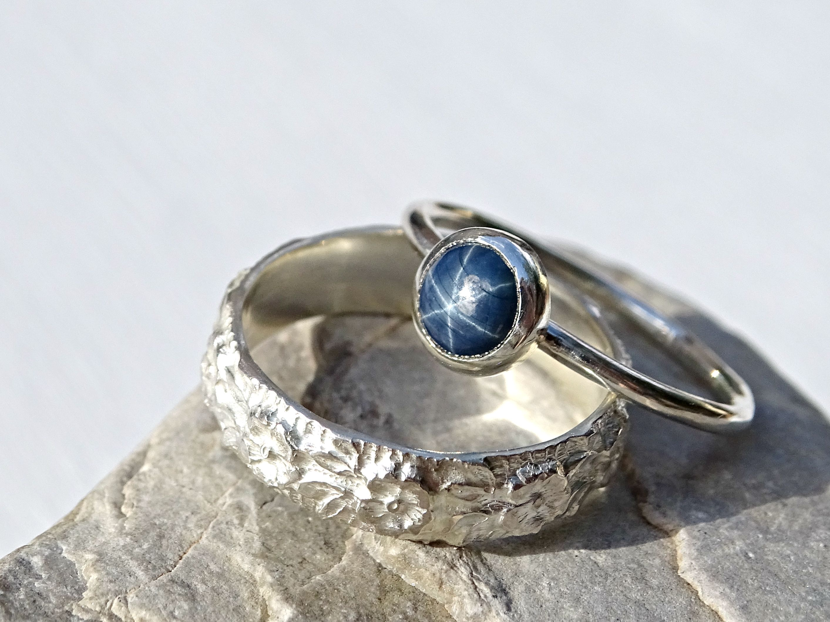 star com by crazyass a ring crazyassjewelry buy clear band and wedding unique engagement order made to jewelry from sapphire custommade custom silver