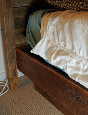 Custom Made Rustic Bed Made From Barn Siding