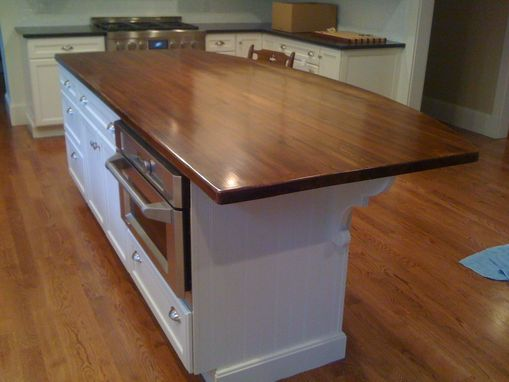 Custom Made Antique, Reclaimed Southern Yellow Pine Wood Island Top