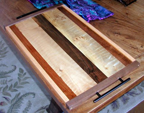 Custom Made Three Wood Serving Tray