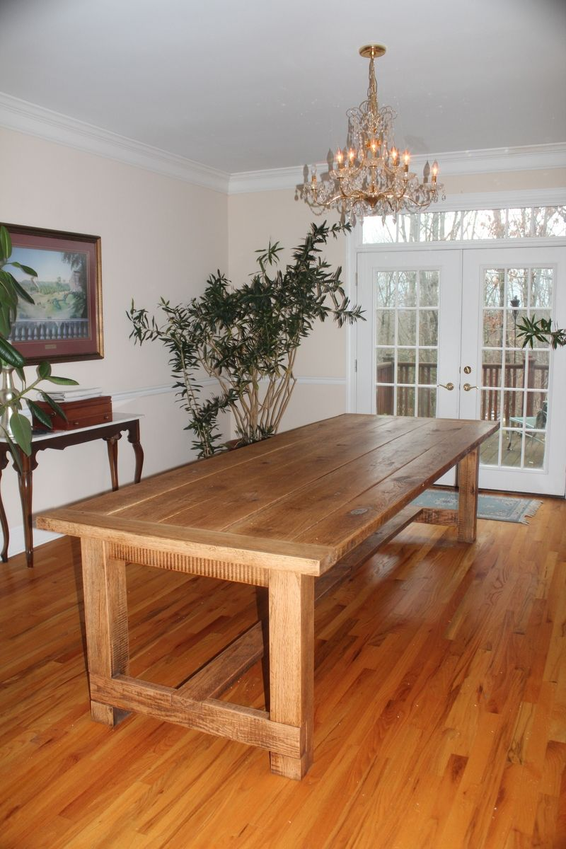 Hand Made 10ft Custom Oak Farm Table By The Rusty Nail