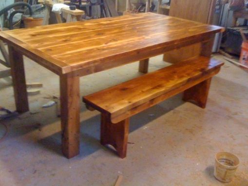 Custom Made Large Dining Table From Reclaimed Lumber