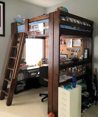 Custom Made Loft Bed For Youth, Teen & College.