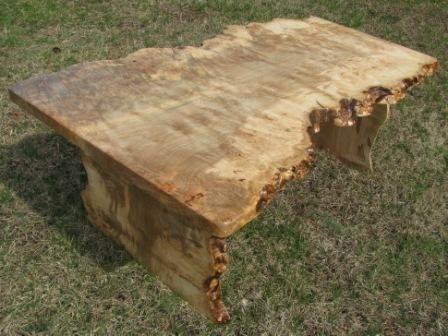 Custom Made Live Edge Red Maple Burl Coffee Table