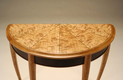Custom Made Cherry And Wenge Demilune Table