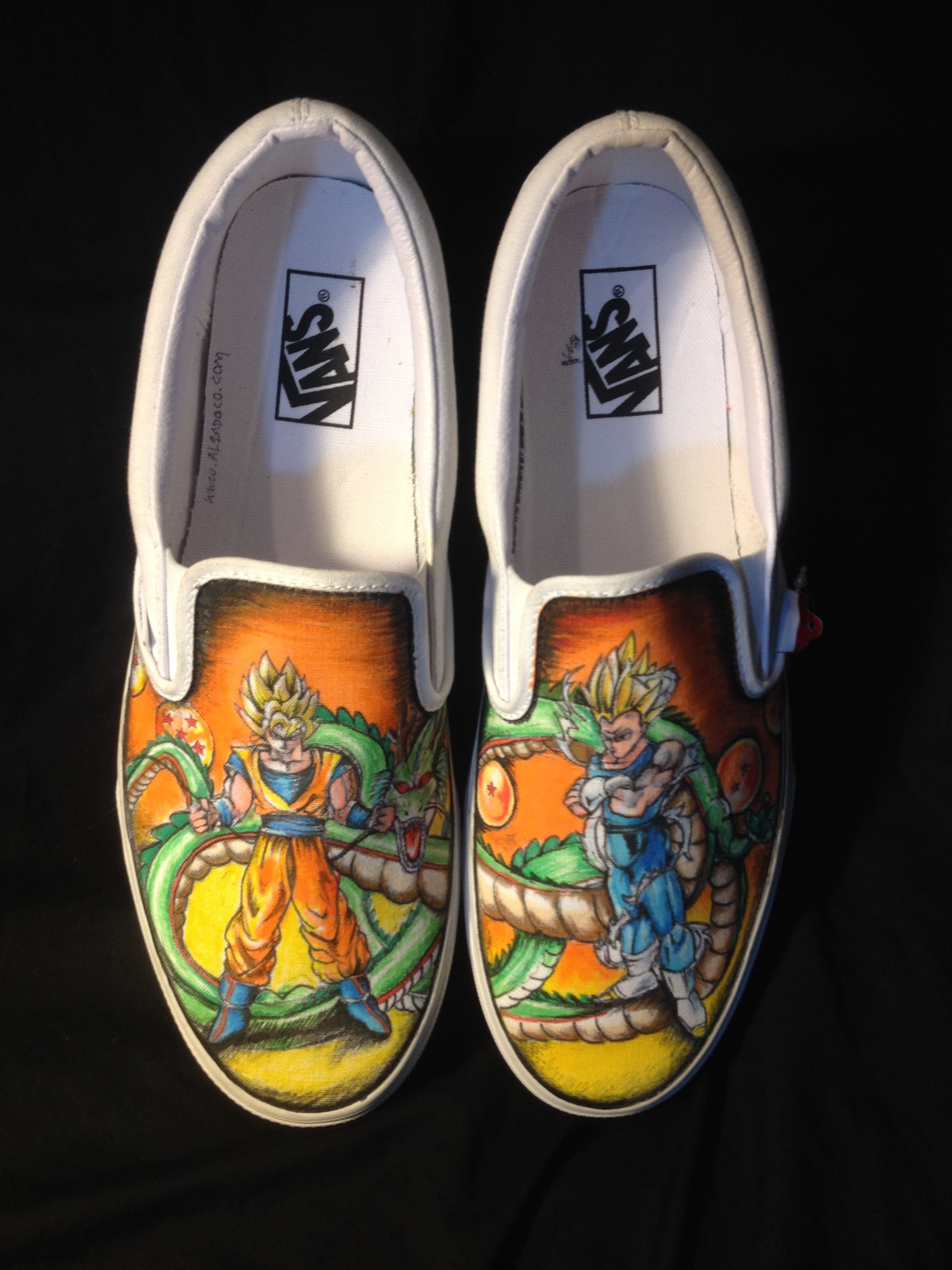 Buy Custom Made Hand Drawn Dragon Ball Z Shoes made to order from