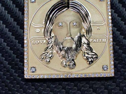 Custom Made Jesus Face Pendant