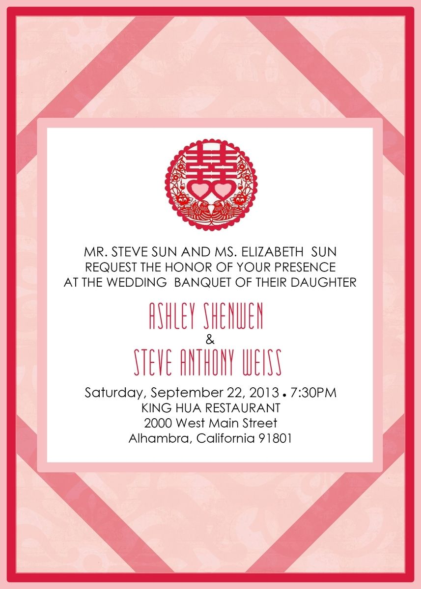 Handmade Chinese Inspired Wedding Invitation by Precious Beast ...