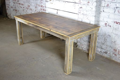 Custom Made Rustic Reclaimed Farm Style Dining Table