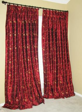 Custom Made Embroidered Faux Silk Curtains