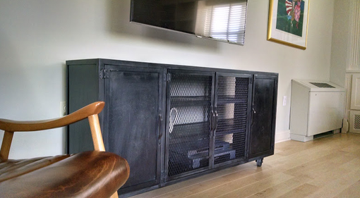 Custom Made Steel Entertainment Console