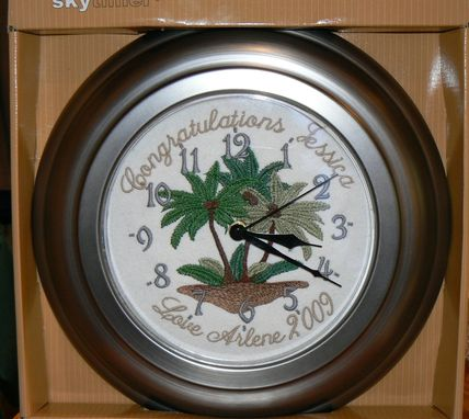 Custom Made Custom Embroidered Wall Clock