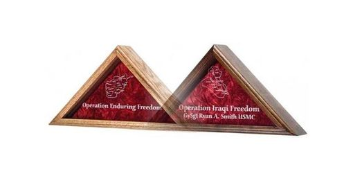 Custom Made Operation Iraqi Freedom Flag Case
