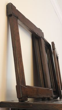 "Custom Made 24"" X 24"" Arts And Craft Dovetail Mirror Frame"